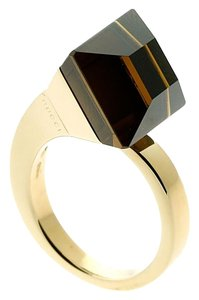 Gucci Gucci Chiodo Smokey Quartz Gold Ring