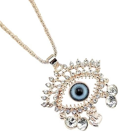 Preload https://img-static.tradesy.com/item/17643205/18k-rose-gold-plated-2pc-evil-eye-pendant-and-chain-necklace-set-with-cz-crystal-0-1-540-540.jpg