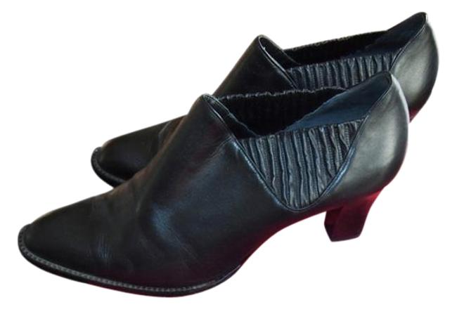 Item - Black Leather & Suede Ankle Boots/Booties Size US 10.5 Regular (M, B)