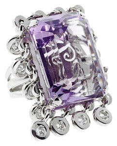 Dior Dior Amethyst Diamond Cocktail Ring