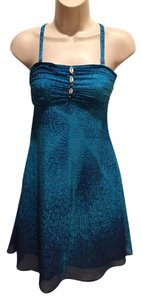 Free People short dress turquoise Shell Embellishment Removable Straps on Tradesy