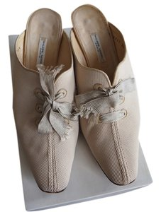 Philippe Model Tan canvas/leather Mules