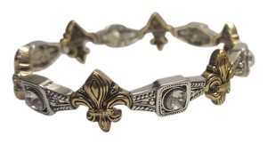 Isabella Fiore Beautiful gold, silver and crystal stretch bracelet