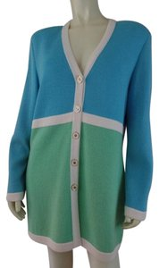 St. John Santana Sweater Sky Blue, Mint, Cream Blazer