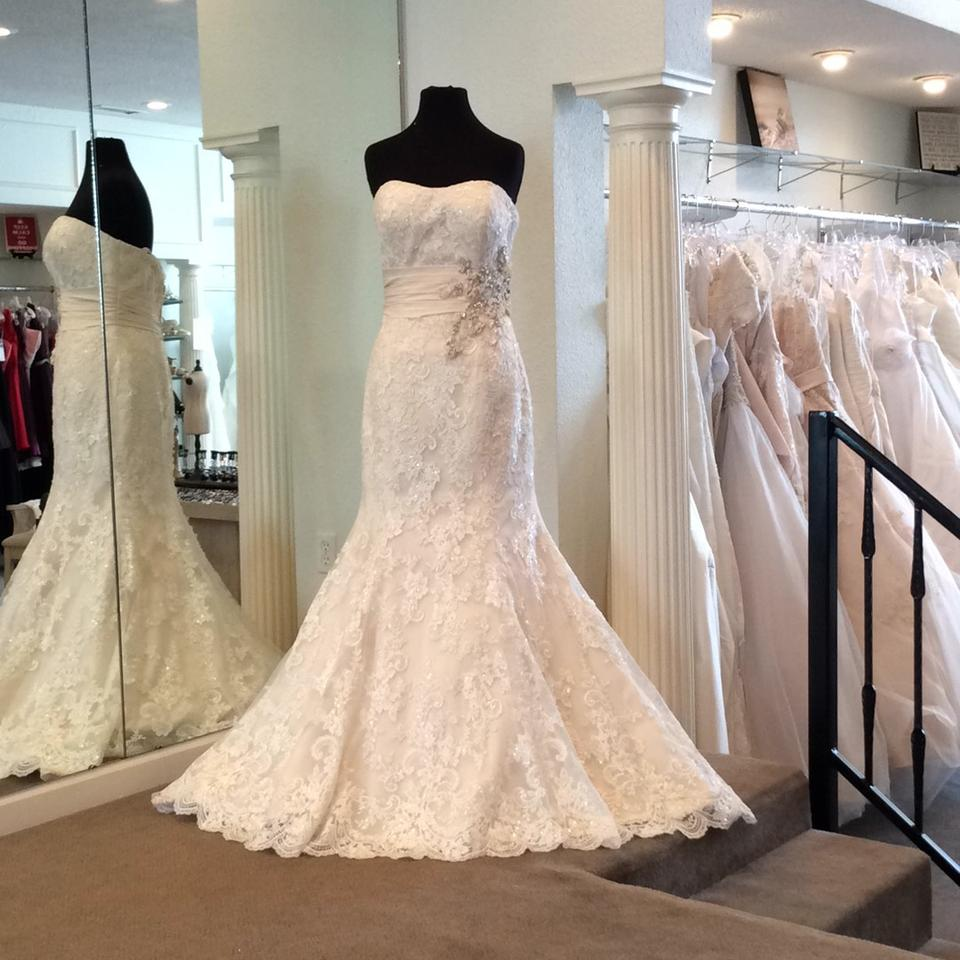 Allure Modest Wedding Gowns: Allure Bridals Ivory/Light Gold/Silver Lace Formal Wedding