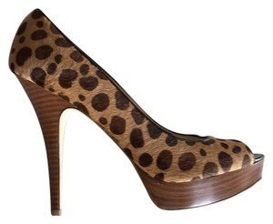 Enzo Angiolini Tan/brown leopard print Platforms