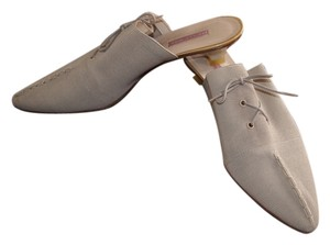 Philippe Model Beige textured canvas Mules