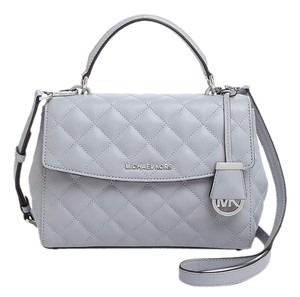 Michael Kors Ava Quilted Leather Satchel in Dove
