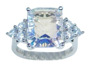 9.2.5 Sterling Silver. Classy Emerald cut Sea mist quartz Ring