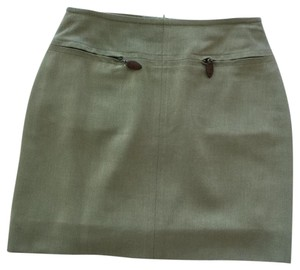 Escada Designer Mini Mini Skirt Sage
