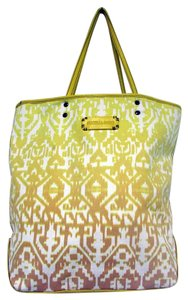 Isabella Fiore Ombre Geometric Large Tote in Yellow