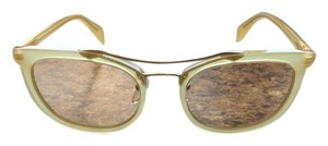 Prada Prada PR17QS-R069N1 Women's Yellow Frame Sunglasses New In Box