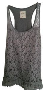 Hollister Racer-back Lace Misses Top Dark Grey