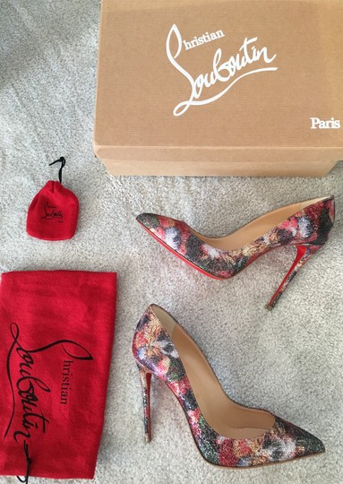 Christian Louboutin Glitter Classics Pigalle Red Bottoms Multicolor Pumps Image 1