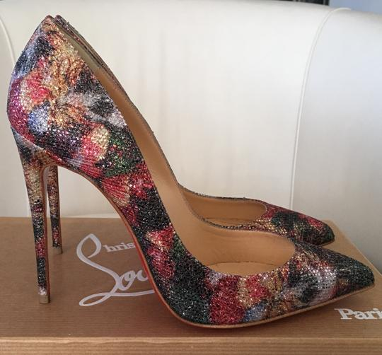 Christian Louboutin Glitter Classics Pigalle Red Bottoms Multicolor Pumps Image 2