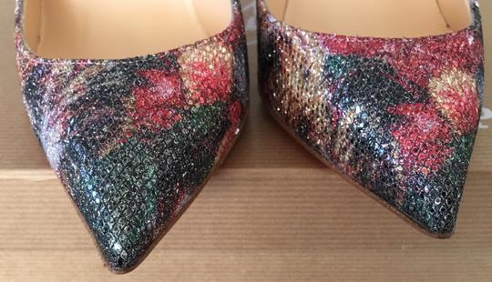 Christian Louboutin Glitter Classics Pigalle Red Bottoms Multicolor Pumps Image 4