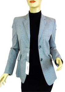 Akris Punto Fitted Two Button Gray Blazer