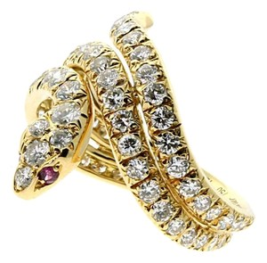 Cartier Cartier Snake Diamond Gold Ring