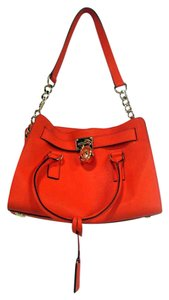 Michael Kors Leather Clementine East West Satchel in Orange