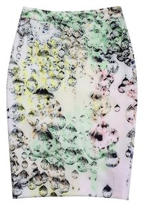 Ted Baker White Pastel Gem Print Pencil Skirt