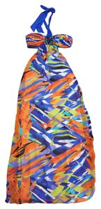Maxi Dress by BCBGMAXAZRIA Multi Color Halter Maxi