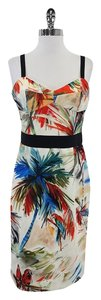 MILLY Multi Color Tropical Watercolor Print Dress