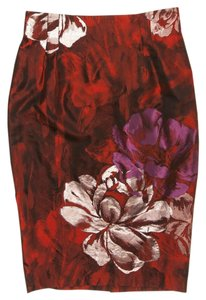 Blumarine Floral Skirt Red