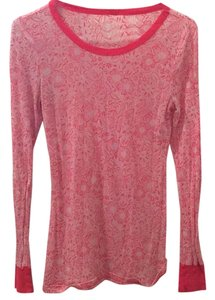 Free People T Shirt Pink/red