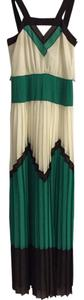 Cream, dark brown, kelly green Maxi Dress by MILLY