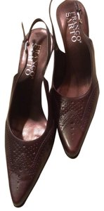 Franco Sarto 8 Slingbacks Brown Mules