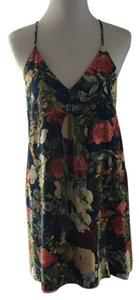 Alice + Olivia short dress Blue with multi color floral on Tradesy