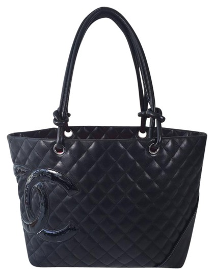 Preload https://item4.tradesy.com/images/chanel-cambon-ligne-black-lambskin-leather-tote-1764723-0-2.jpg?width=440&height=440