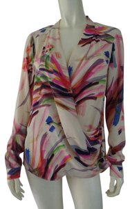 HD in Paris Abstract Sheer Top Multicolored