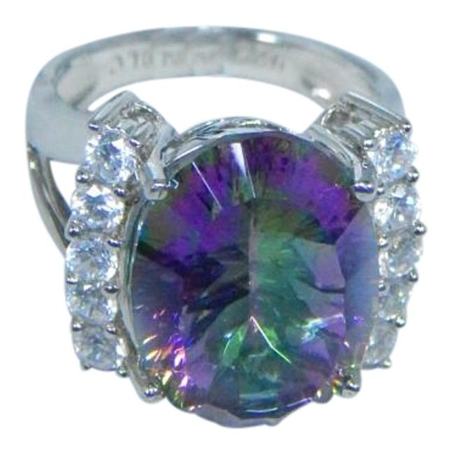 Item - Mystic Quartz Purple Sterling Silver. Elegant Oval Shape Sea Ring