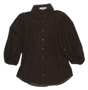 Anne Fontaine Button Down French Top Black