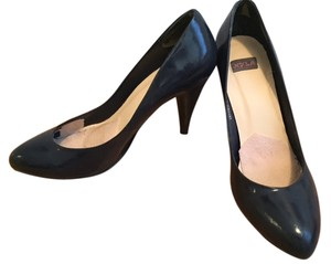 N.Y.L.A. Patent Leather Navy Midnight Blue Pumps