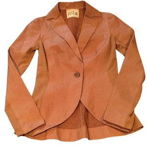 Illia Tan Leather Jacket