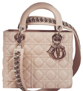 Dior Lady Cannage Tote in NUDE / BEIGE