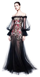Alexander McQueen Tulle Off Shoulder Embellished Limited Edition Dress