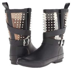 Burberry Limited Edition Studded Monogram Black Boots