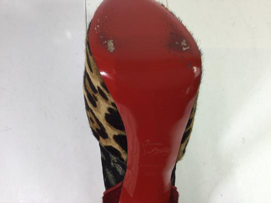 Christian Louboutin Leopard Aeronotoc Booties Red Pumps
