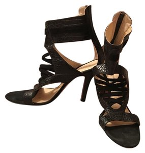 Alexandre Birman Gladiator Like New Leather Black Sandals
