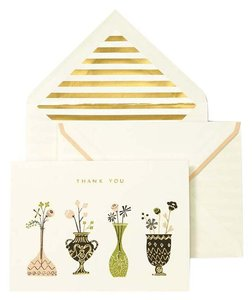 Kate Spade Kate Spade Thank You Gold Accent Card Stationary Set