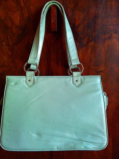 Juju Tribe Local Designer Italian Limited Edition Classic Professional Tote in Light Blue leather and brown suede