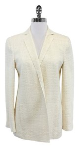 Akris Cream Woven Cotton Blend Blazer