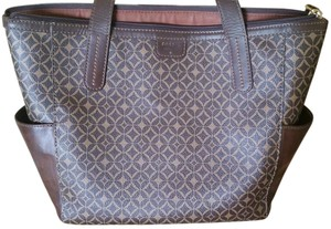Fossil Tote in Brown/Black