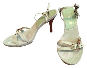 Franco Sarto Calfskin Suede Light Green/Spring Sandals