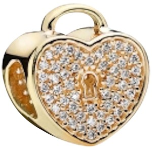 PANDORA PANDORA 14K Heart Lock with Clear CZ Charm 750833cz