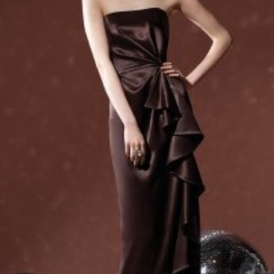 Social Bridesmaids Brown Bridesmaids Dress - 8100 Dress