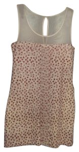 Free People short dress Cream with burgandy and orange flowers Summer on Tradesy